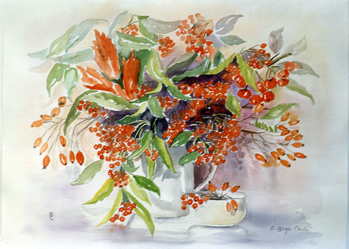 Souvent Aquarelles - Les Fleurs | Artiste Peintre | Francette Berger-Cardi HO64