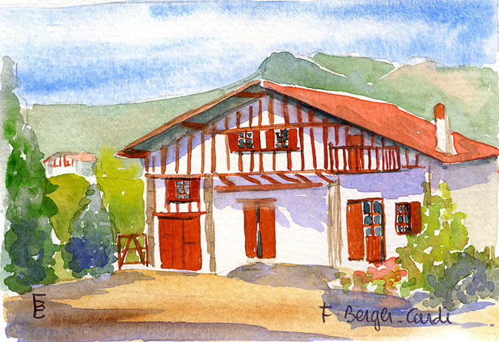 aquarelles le pays basque artiste peintre francette berger cardi. Black Bedroom Furniture Sets. Home Design Ideas