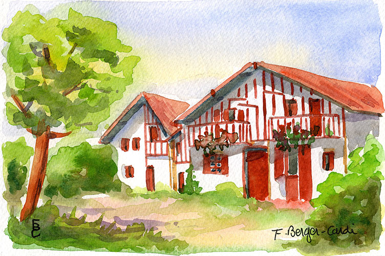 Maison moderne avec pin des landes for Maison moderne landes