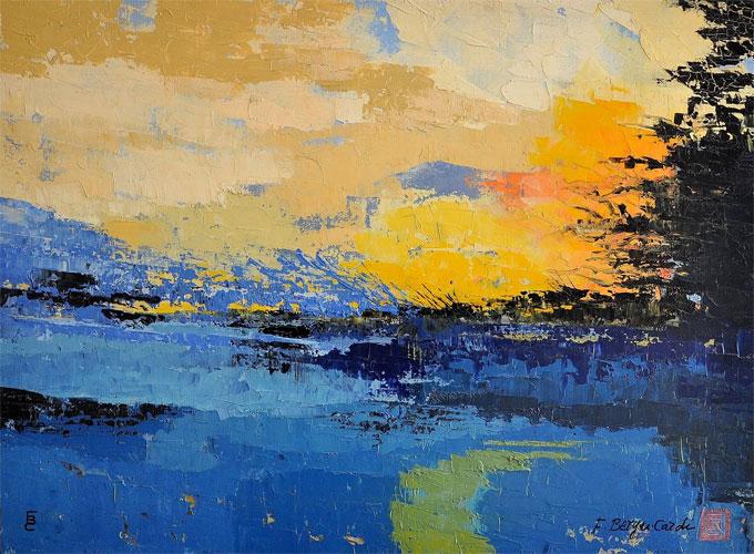 Peintures huile abstraites artiste peintre francette berger cardi - Peinture abstraite a l huile ...