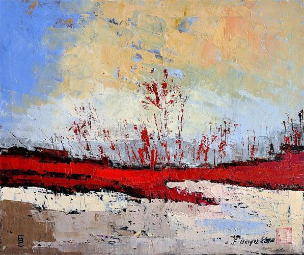 Peintures huile abstraites artiste peintre francette berger cardi - Peinture abstraite huile ...